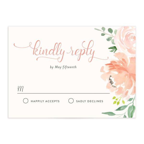 Romantic Floral Wedding RSVP cards