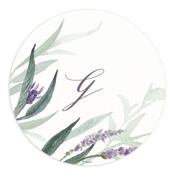lavender sage wedding stickers