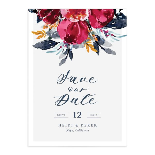 Painted Bouquet Wedding Save the Date Cards