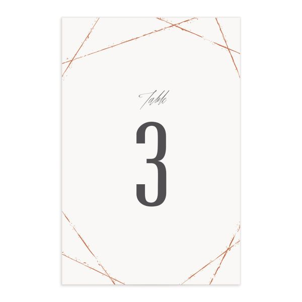 elegant industrial wedding table numbers