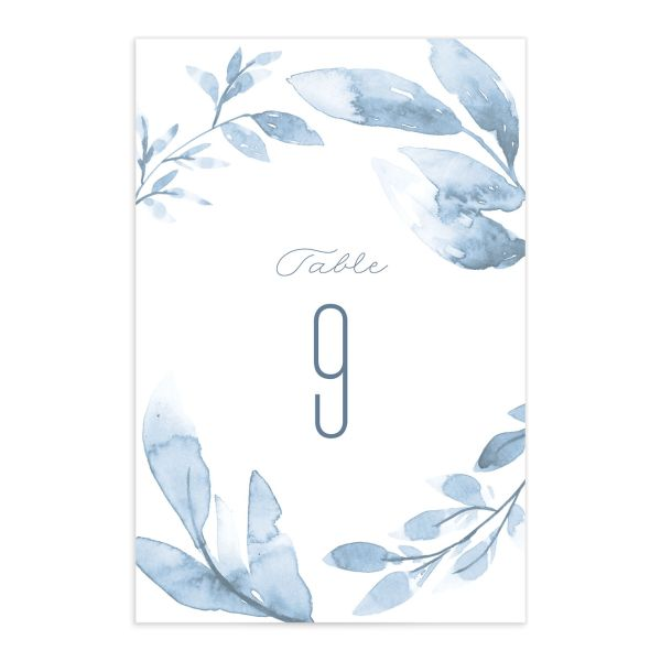 painted leaves table numbers back