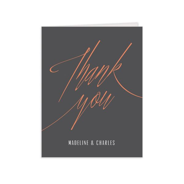 elegant industrial wedding thank you cards