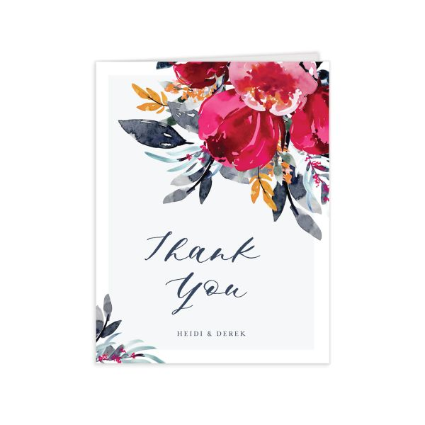 Painted Bouquet Thank You Cards