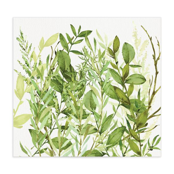 Watercolor Greenery Envelope Liner