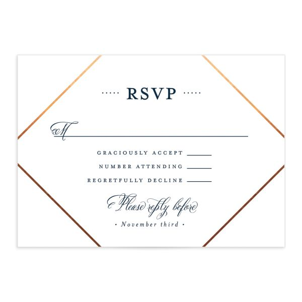 Formal Ampersand RSVP Card front in navy