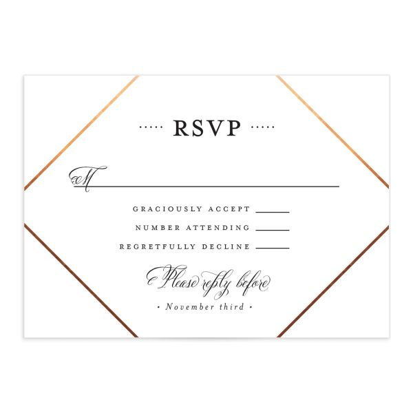 Formal Ampersand RSVP Card front in white