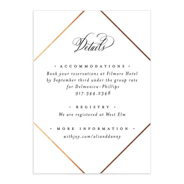 Formal Ampersand Enclosure Card front in white