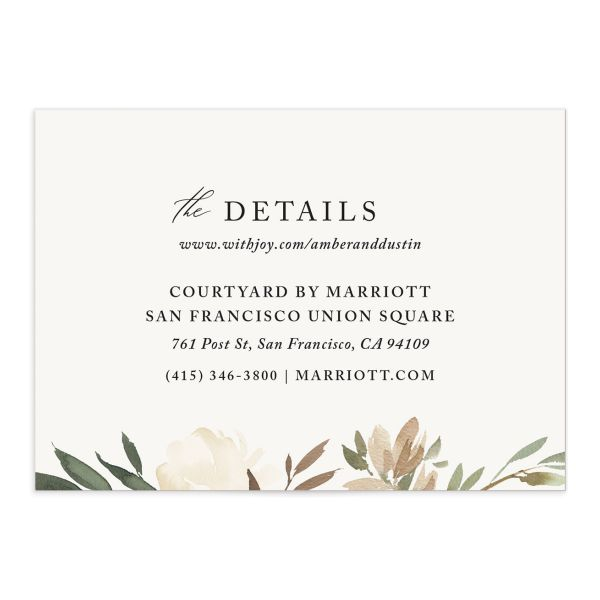 neutral greenery enclosure cards in green