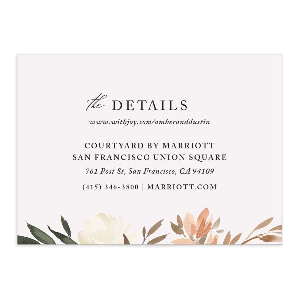 neutral greenery enclosure cards in orange