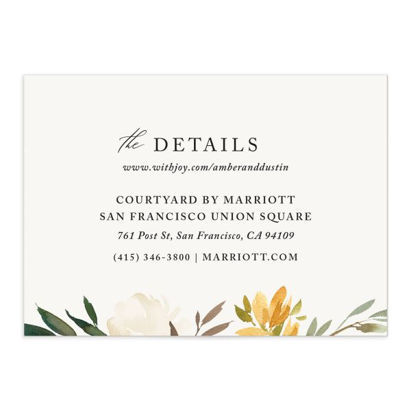 neutral greenery enclosure cards in yellow