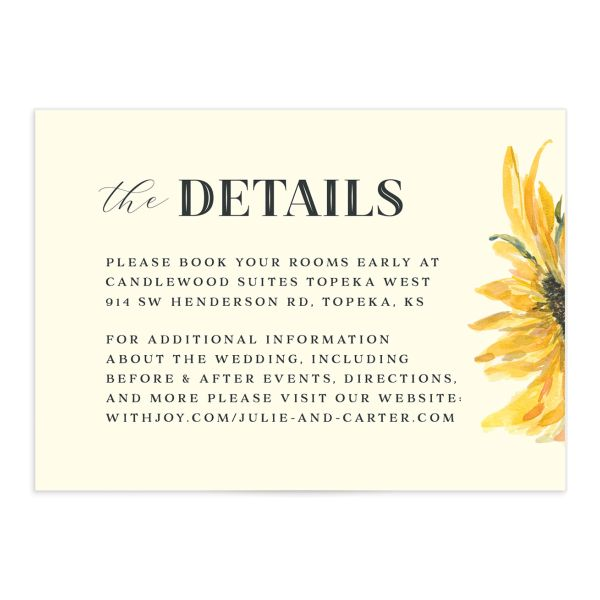 Sunflower enclosure card front