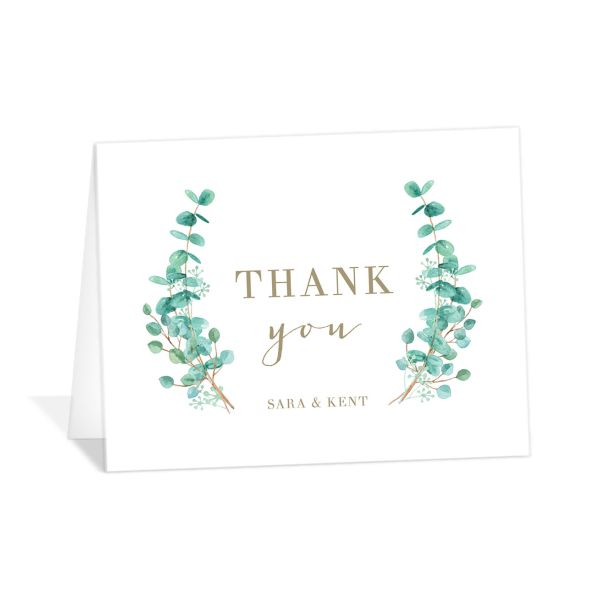 Elegant Eucalyptus thank you card