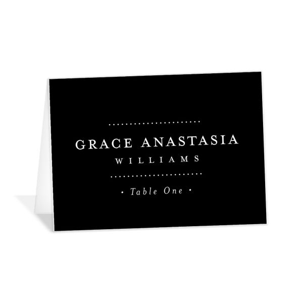 Formal Ampersand place cards and escort cards in black