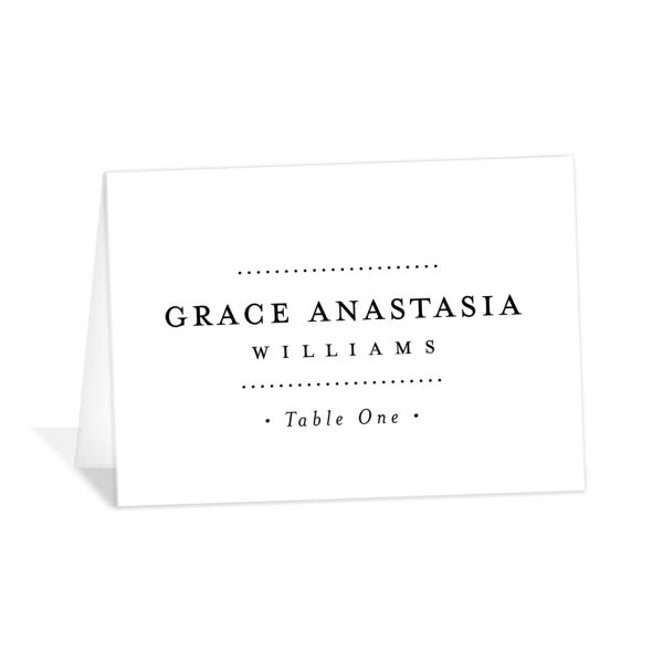 Formal Ampersand place cards and escort cards in white