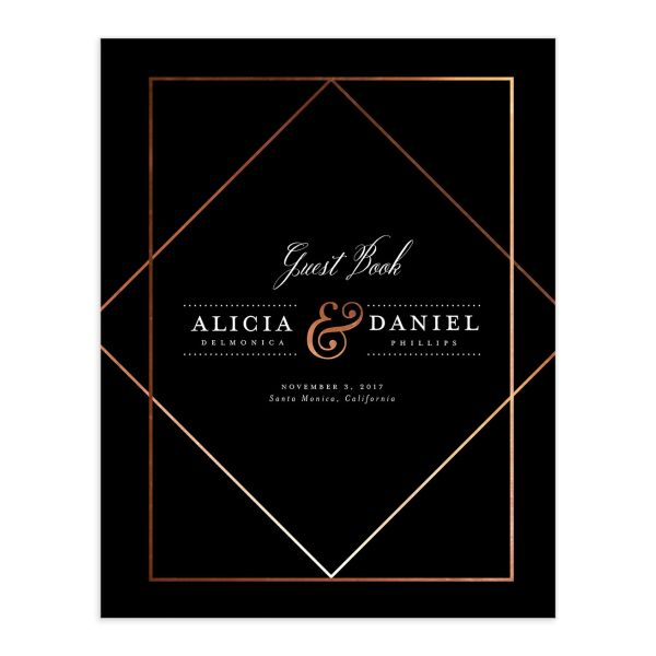 Formal Ampersand Guest Book in black