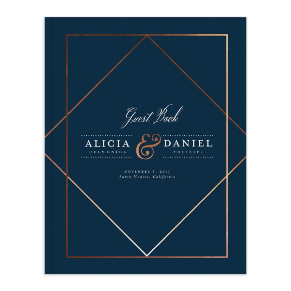 Formal Ampersand Guest Book in navy