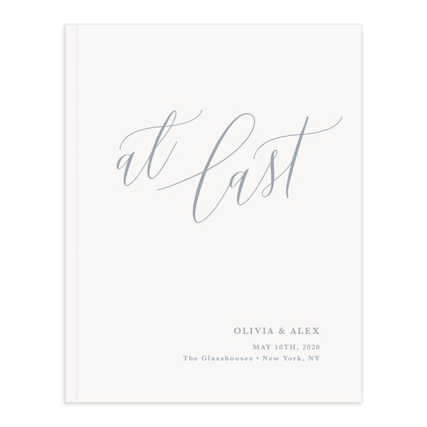 At Last wedding guest book front cover