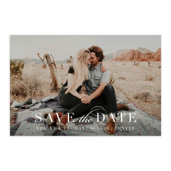 Classic Date save the date postcard