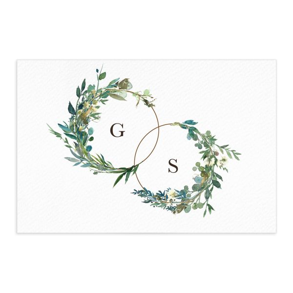 Leafy Hoops save the date postcard