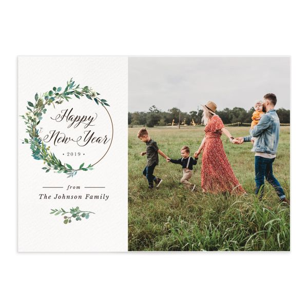 Leafy Hoops holiday photo card