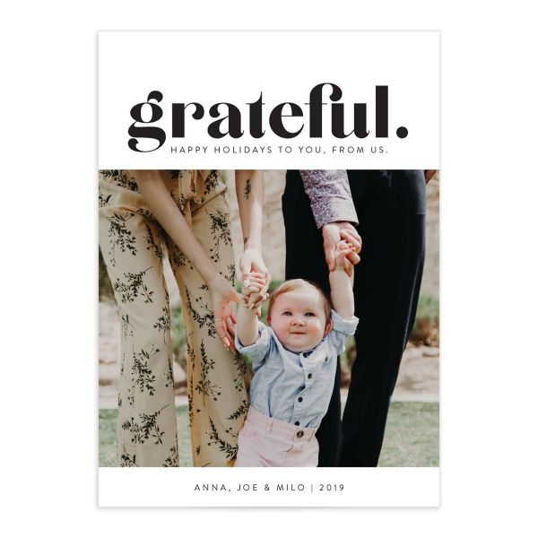grateful holiday photo cards