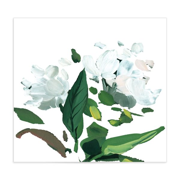 Painted Greenery Envelope Liner white