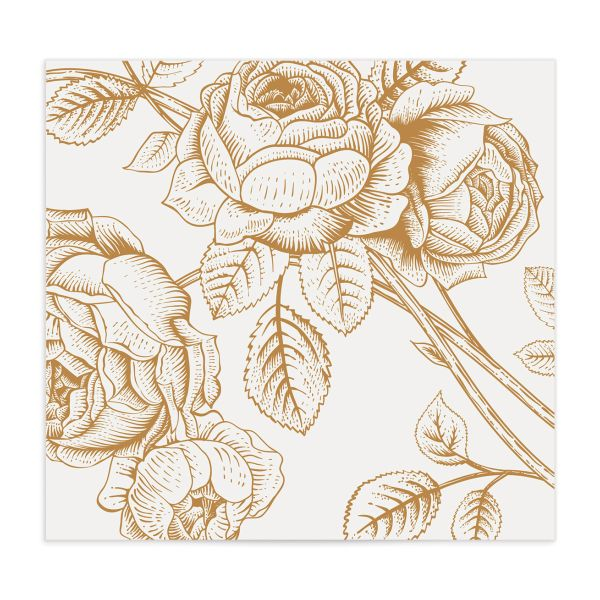 Etched Botanical envelope liner