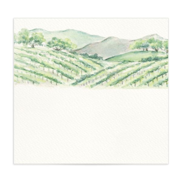 Painted Winery envelope liner green