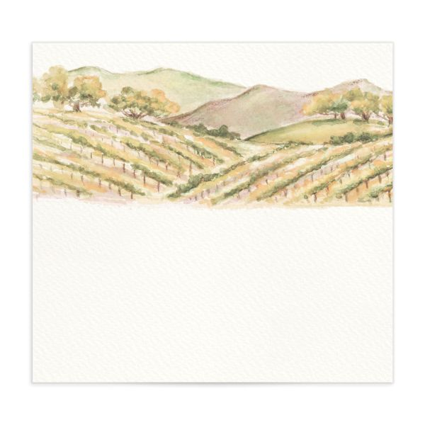 Painted Winery envelope liner orange