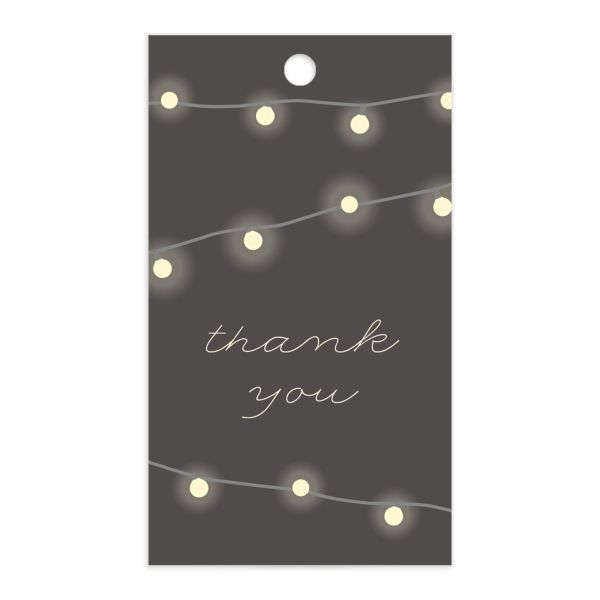 Strung Lights gift tag front