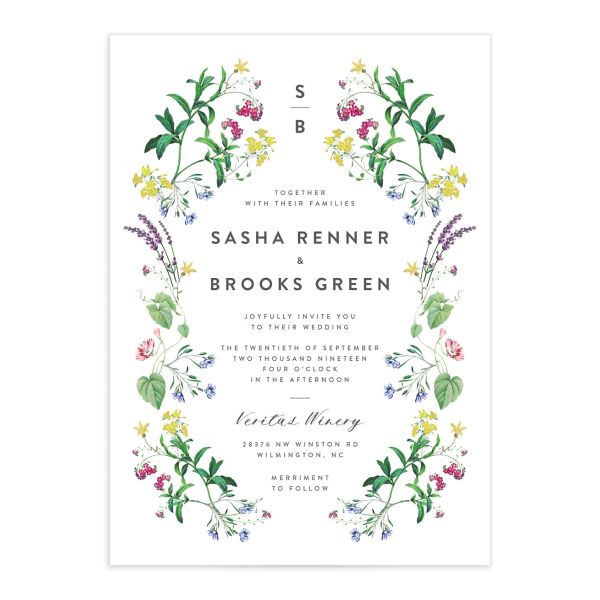 enchanted wildflower invite suite in green