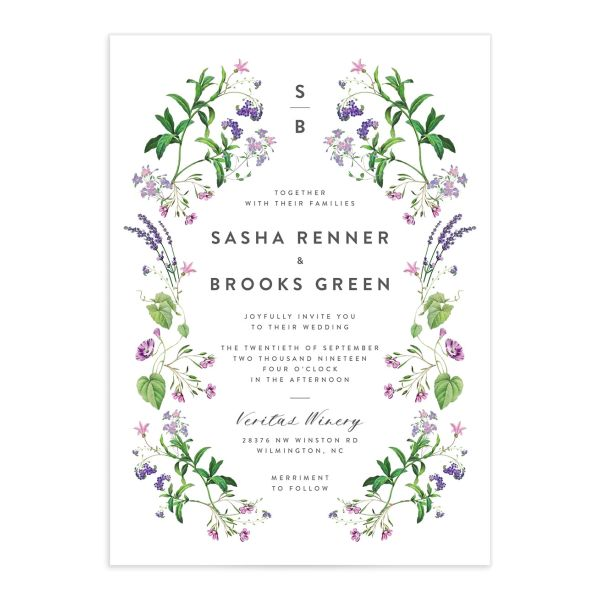 enchanted wildflower wedding invitations