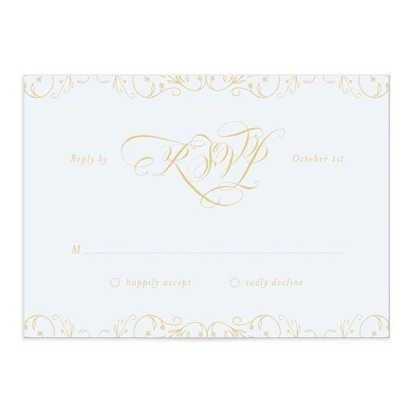 Vintage Luxe wedding response cards