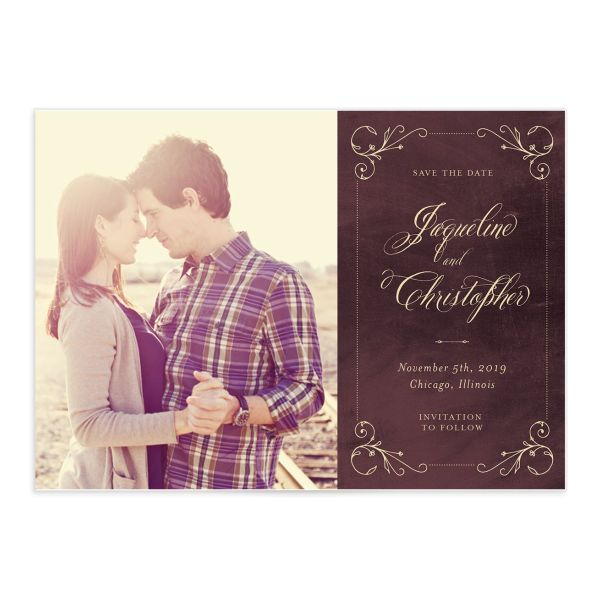 Vintage Luxe Save the Date