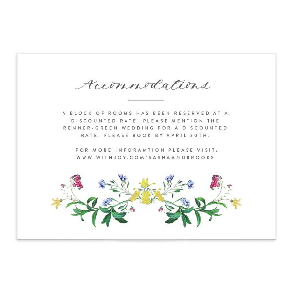 enchanted watercolor enclosure cards in green