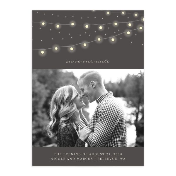 Strung Lights save the date