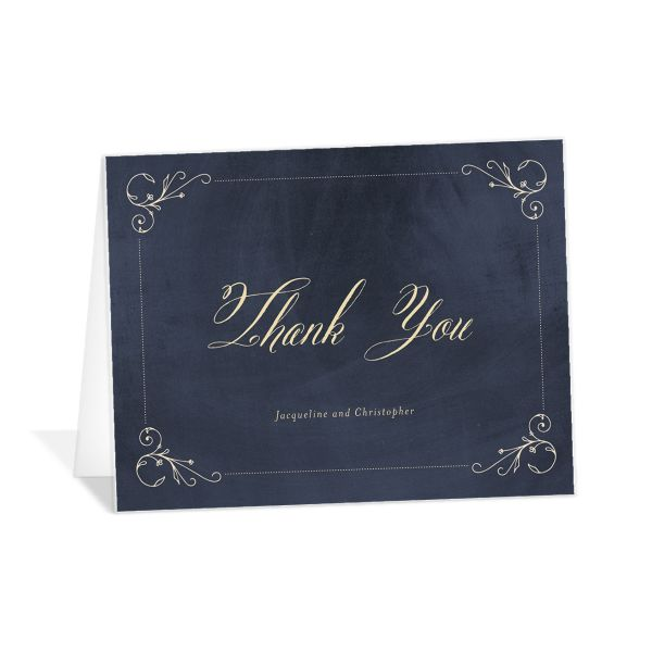 vintage luxe thank you cards