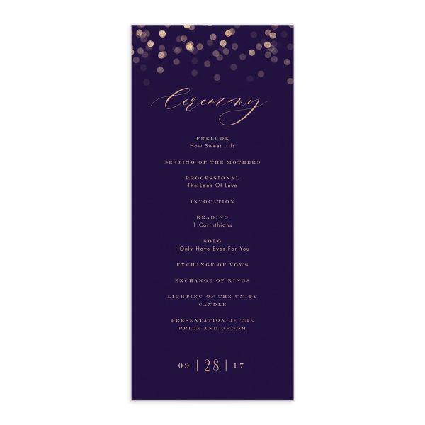 Elegant Glow Wedding Programs