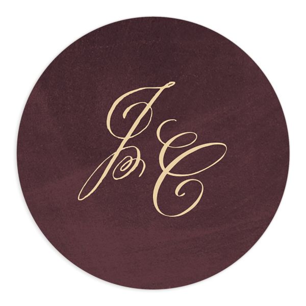 vintage luxe wedding stickers in burgundy
