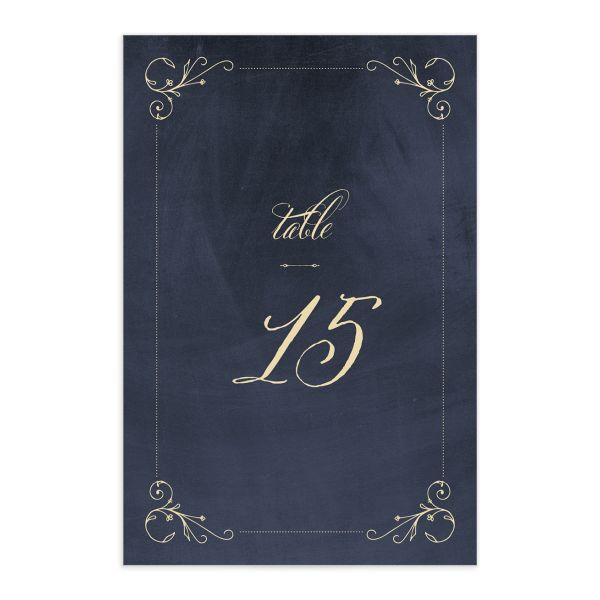 vintage luxe table numbers