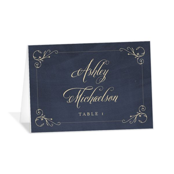 vintage luxe place cards