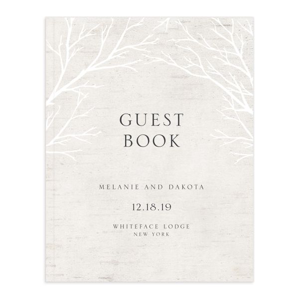 Rustic Birch wedding guest book