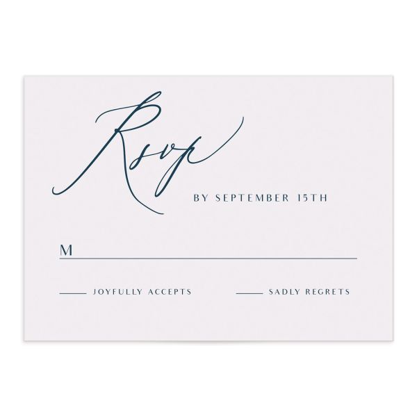 Elegant Lights wedding rsvp cards