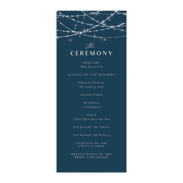 Elegant Lights wedding programs