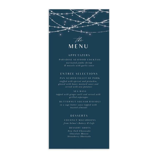 elegant lights menu