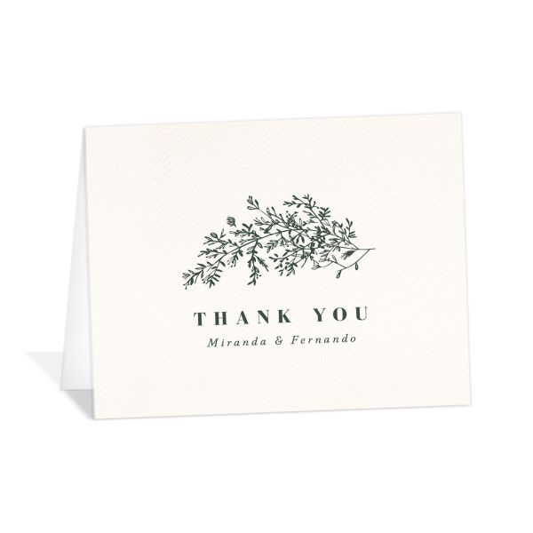 Botanical branches thank you cards
