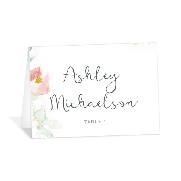 Romantic Watercolor Place Cards