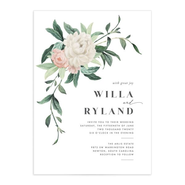 Botanica Wedding Invitation Front