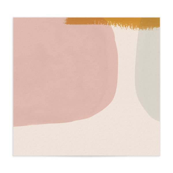 Abstract Watercolor envelope liner in gold