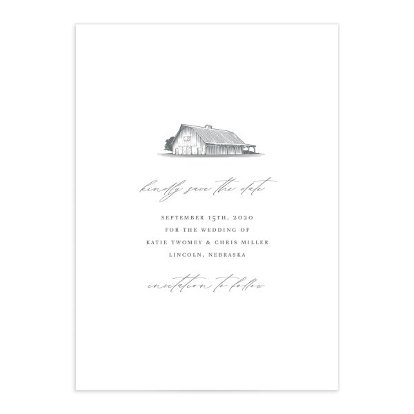 Classic Landscape Save the Date front in Barn catalog